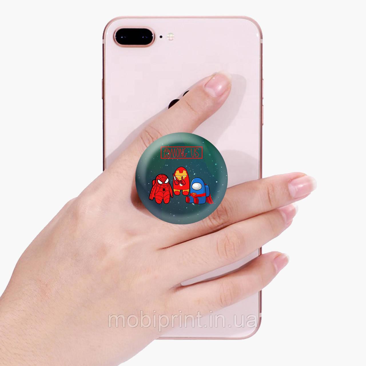 Попсокет (Popsockets) держатель для смартфона Амонг Ас (Among Us)  (8754-2431)