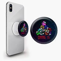 Попсокет (Popsockets) держатель для смартфона Амонг Ас (Among Us)  (8754-2594) , фото 1
