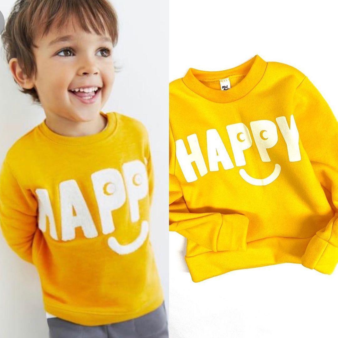 """Кофта детская """"Happy"""",трёхнить (от 1 до 6 лет)"""