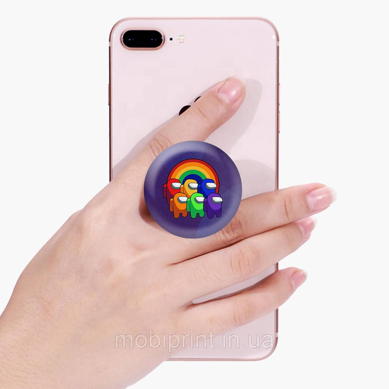 Попсокет (Popsockets) держатель для смартфона Амонг Ас (Among Us)  (8754-2595)