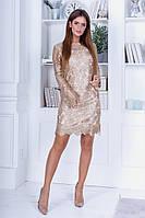 Женское праздничное платье с прозрачной спинкой, фото 1