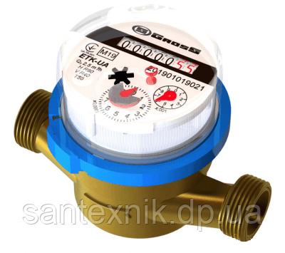 Счетчик воды GROSS ETK-UA 3/4 20/130 для холодной воды