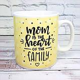 Кружка Гигант Мама сердце семьи, фото 4