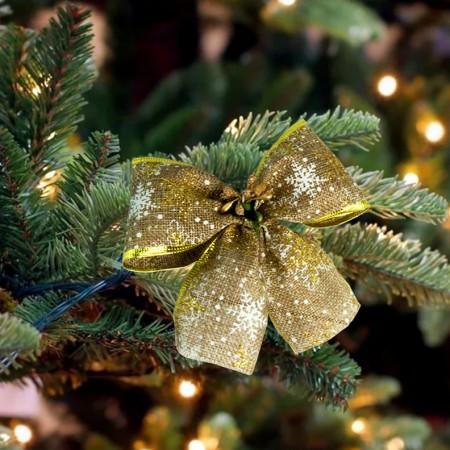 Бант рождественский светлый льон 9249