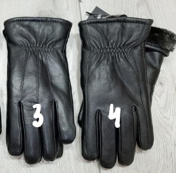 Кожа мужские перчатки зима мех