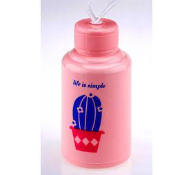 Бутылка Life is simple кактус розовая