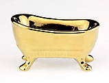 Ванна золотая подставка пепельница, фото 2