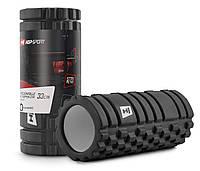 Массажный ролик (валик) для його и фитнеса 33х14 см EVA HS-A033YG black для дома и спортала