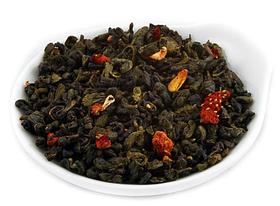 Чай зеленый рассыпной листовой зеленый чай Земляника со сливками 50 г