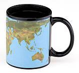 Чашка с терморисунком Карта Мира голубая ( Solar System ), фото 2