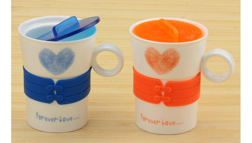 Чашка сердечко Forever Love желтая