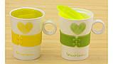 Чашка сердечко Forever Love желтая, фото 2