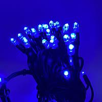 Светодиодная гирлянда Нить Neo Neon синяя на черном кабеле 5 метров 50LED без мигания