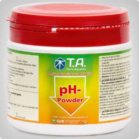 Понизитель уровня pH в порошке pН Down Powder Terra Aquatica (GHE)  0.5л