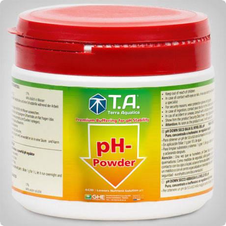 Понизитель уровня pH в порошке pН Down Powder Terra Aquatica (GHE)  0.5л, фото 2