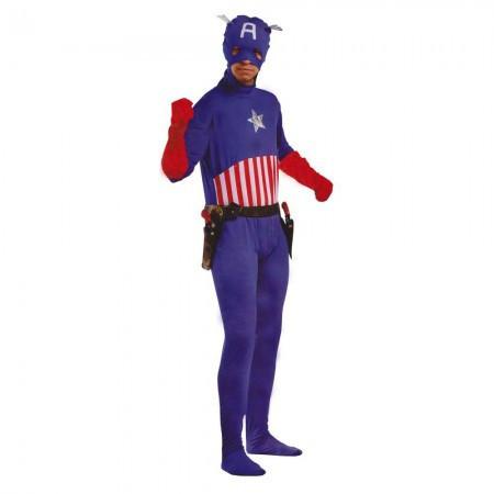 Маскарадный костюм Капитан Америка (размер S)