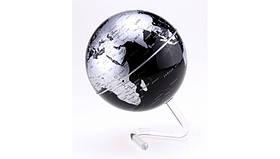 Глобус вращающийся на прозрачной подставке, черный