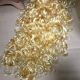 Парик блонд вьющийся кудрявый 45 см, фото 4