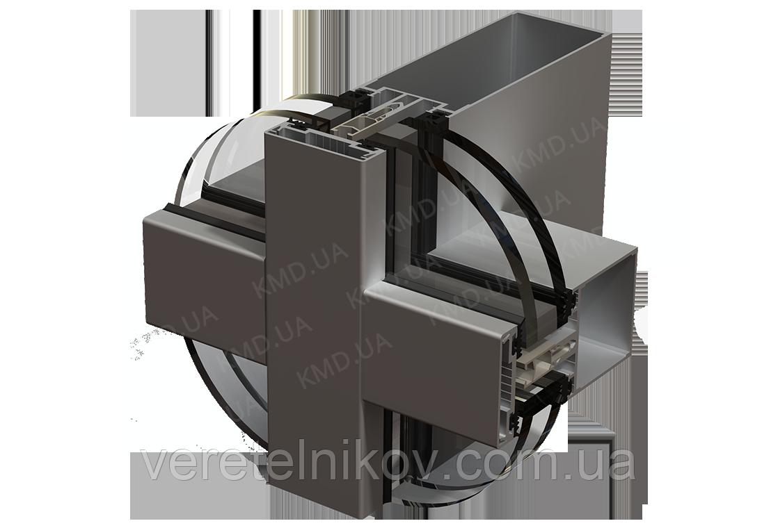 Стоечно-ригельная система остекления фасада KMD F50