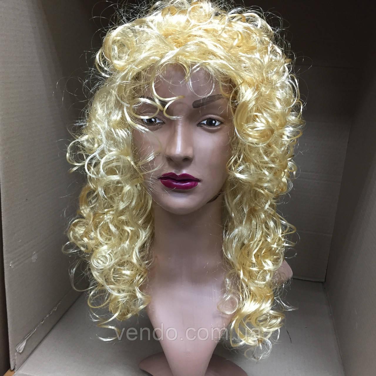 Парик блонд вьющийся кудрявый 45 см