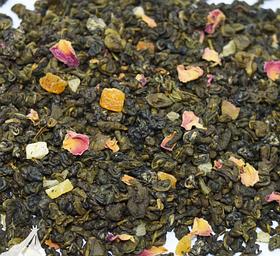 Чай зеленый с кусочками абрикоса рассыпной листовой зеленый чай Абрикосовый джем 50 г