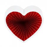 Светильник Бесконечность с USB Сердце (красный), фото 3