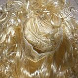 Парик блонд вьющийся кудрявый 45 см, фото 5