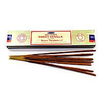 Аромапалочки Sweet Vanilla (Сладкая Ваниль)(15 гр.)(Satya)(12 шт /уп) пыльцевое масала благовоние