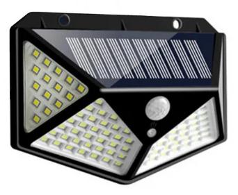 Фонарь прожектор на солнечной батарее с датчиком движения Solar Wall Lamp SH-100 Черный