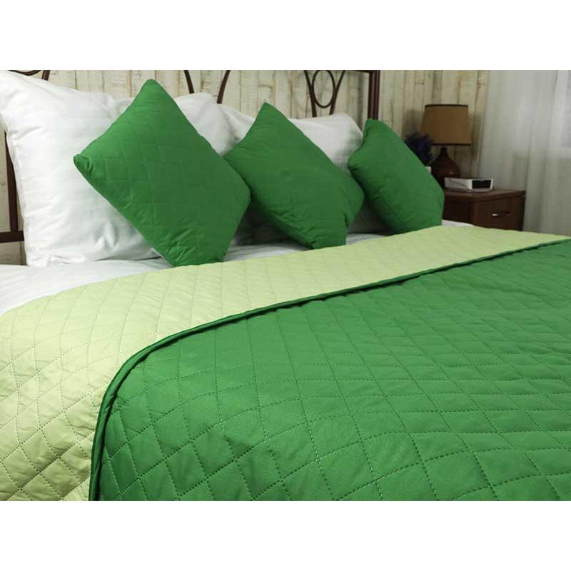 Покрывало на кровать, диван Руно Зеленое 150х212 двустороннее полуторное