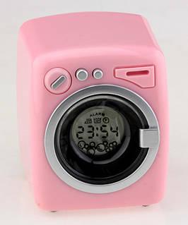 Стиральная машина будильник розовая