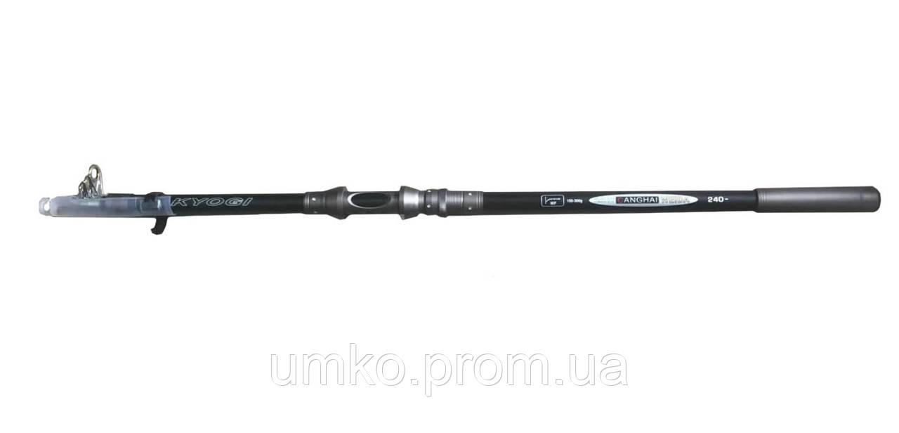 Удилище телескопическое Weida KYOGI, 150-300g, 3,0m, carbon rod
