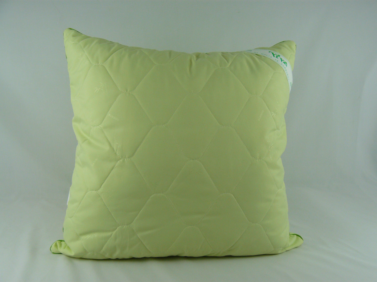 "Подушка 68х68 микрофибра зеленая ""Бамбук"""