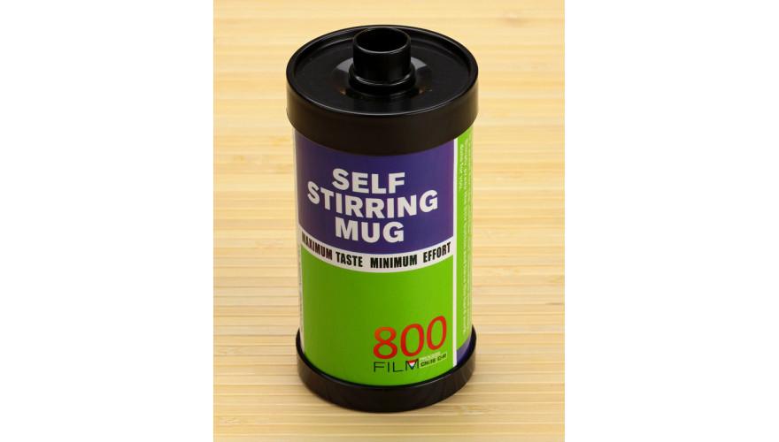 Термокружка с миксером фотопленка 800, зеленая ( film self stirring mug )