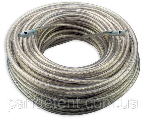 Трос таможенный Ø=6мм( трос пломбировочный) 34,40,42 метра, с наконечниками, на фуру, фото 2