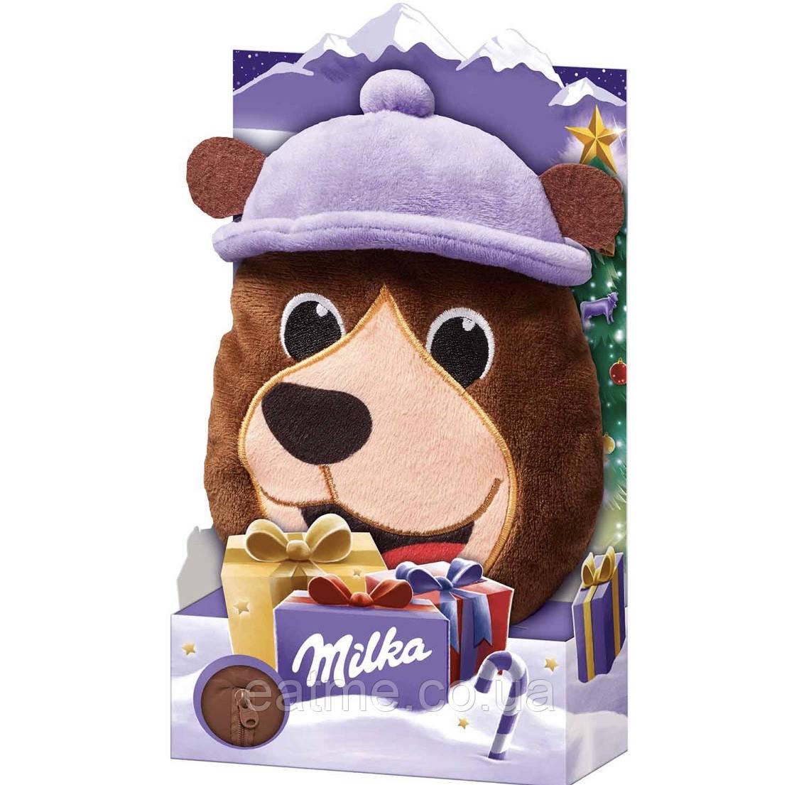 Milka Подушка с карманом на молнии и сладостями