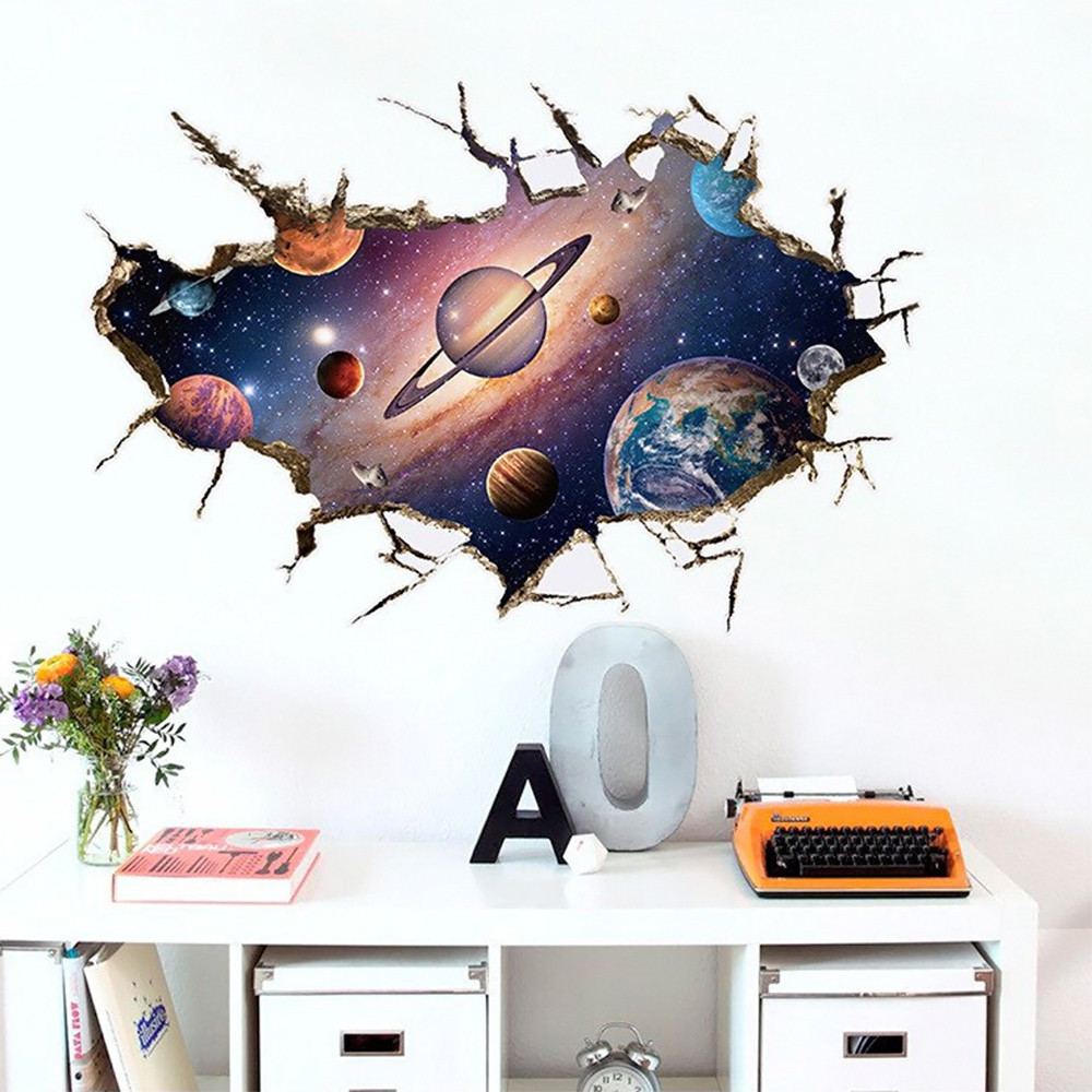 Интерьерная наклейка 3D Планеты SK9066B 90х60см