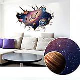 Интерьерная наклейка 3D Планеты SK9066B 90х60см, фото 2