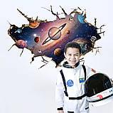Интерьерная наклейка 3D Планеты SK9066B 90х60см, фото 3
