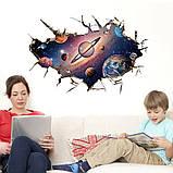 Интерьерная наклейка 3D Планеты SK9066B 90х60см, фото 4