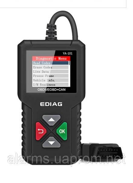 Диагностический сканер OBD2 EDIAG YA101 (русский язык)