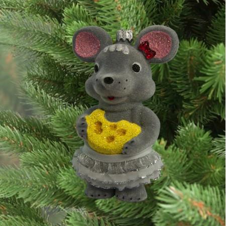 Украшение новогоднее Мышка 9309