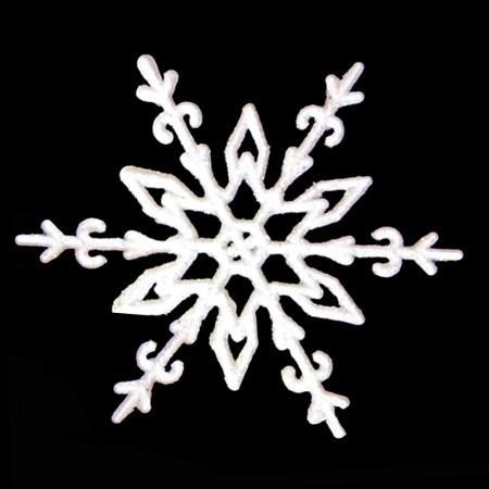 Украшение Снежинка Морозный рисунок 11х11см (уп 10шт)