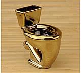 Унитаз золотой подставка - пепельница, фото 2