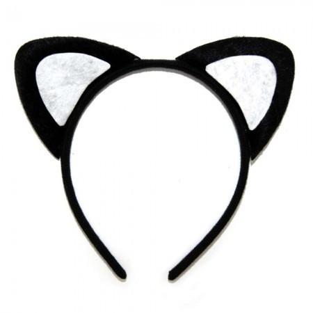 Ушки Кошка (черные) (уп. 12шт)