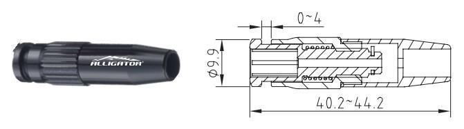 Регулятор натягування тросика в рубашці Aligator, 2 шт