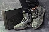 Зимние мужские кроссовки Nike Lunar Force 1 Duckboot темно-зеленые, фото 3