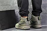 Зимние мужские кроссовки Nike Lunar Force 1 Duckboot темно-зеленые, фото 2