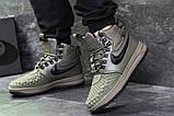 Зимние мужские кроссовки Nike Lunar Force 1 Duckboot темно-зеленые, фото 8
