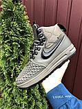 Зимние мужские кроссовки Nike Lunar Force 1 Duckboot темно-зеленые, фото 7